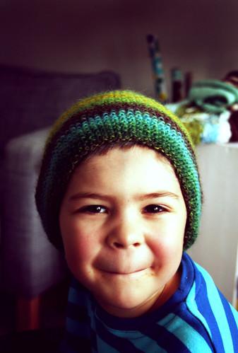 Tenho's hat ready