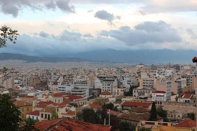 Athens seen from above