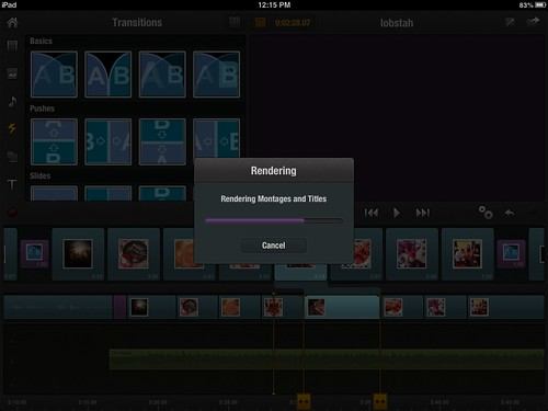 Rendering Video Clips in Pinnacle Studio for iPad