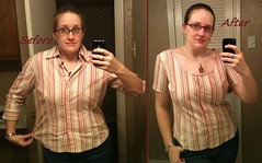 Button Down Tee Before & After