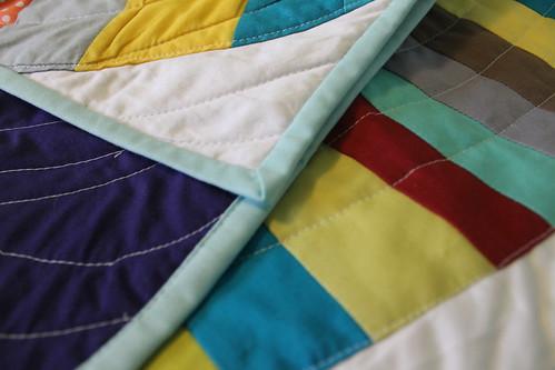 Rainbow Derecho Quilt Finished!