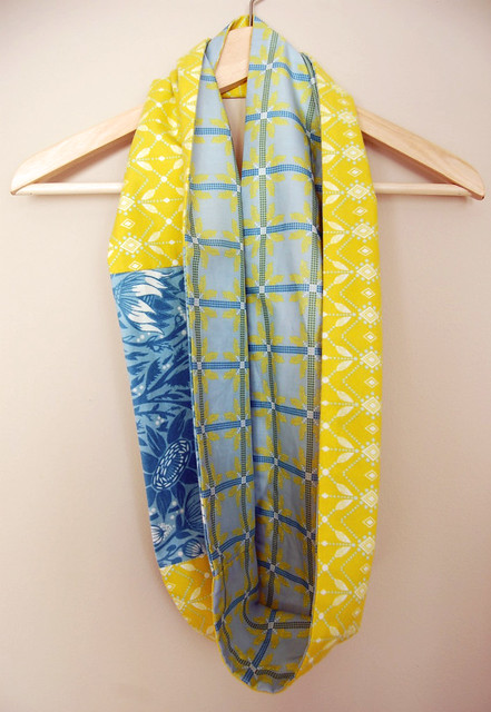 Yellow Infinity/ Figure-8 Scarf