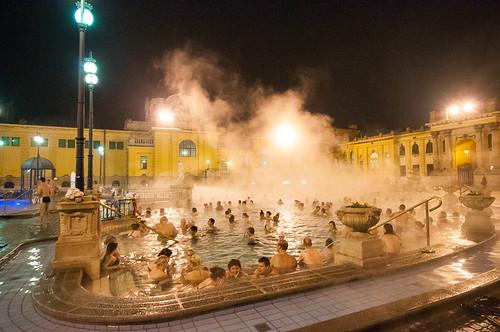 Baños y piscinas termales de Budapest: El Balneario Széchenyi