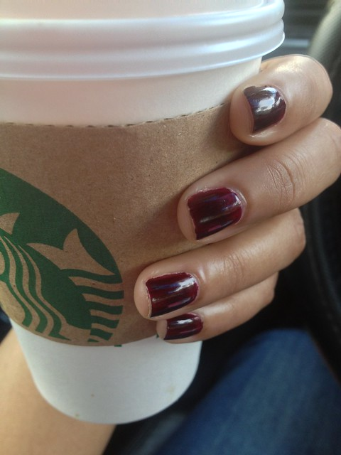 Salted Caramel Mochas & Black Cherry Nails