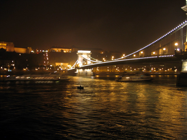 Chain Bridge (Lánchid) from Viking Legend, Budapest HU