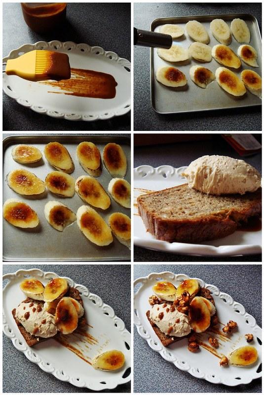 Plating Banana Bread Dessert