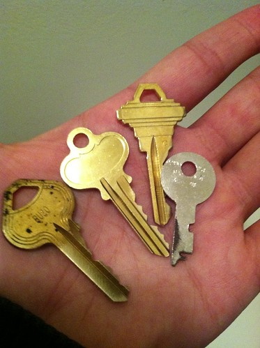 These are the keys to my first Manhattan apartment.