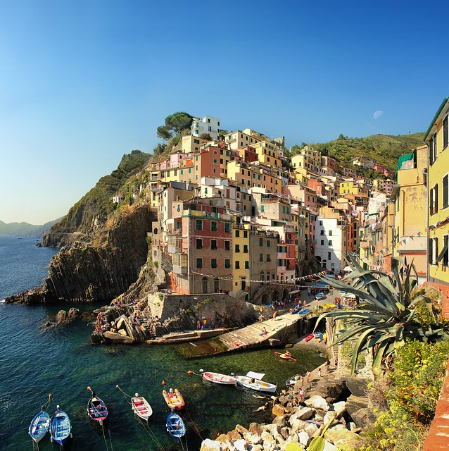 The best classical view on Riomaggiore