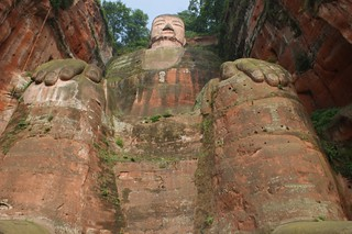 Giant Buddha from the bottom