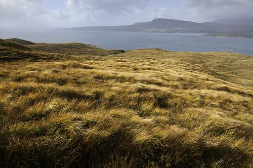 autumn cloud colour skye rain landscape scotland soft isleofskye windswept grasses loch torrin slapin