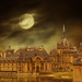 Full moon over the palace of Chantilly ! by Ellinas_n*