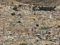 Vista da medina de Fez do cimo do Borj Nord