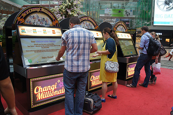 Be A Changi Millionaire game stations at T3