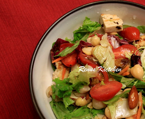garbanzo bean grilled tofu salad