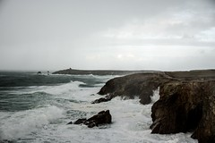 Côte Sauvage nord (Presqu'île de Quiberon) par temps pluvieux