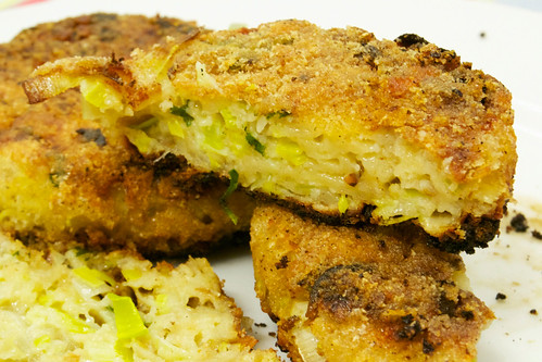 cheese and leek cakes