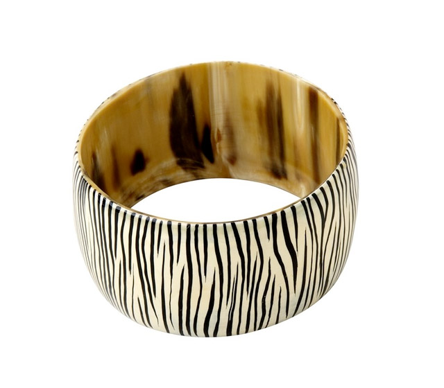 ten thousand villages, clearance highlights, style blog, my fair vanity, bangle, zebra