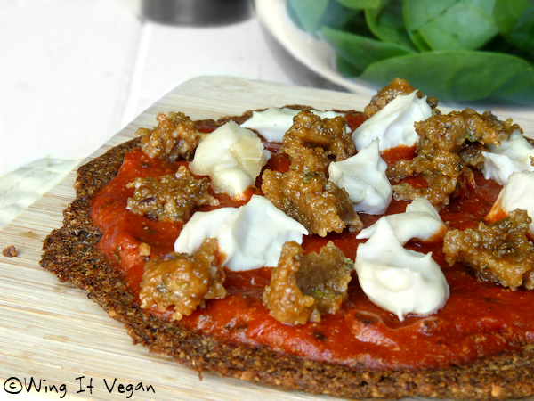 Italian Sausage Pizza (Practically Raw)