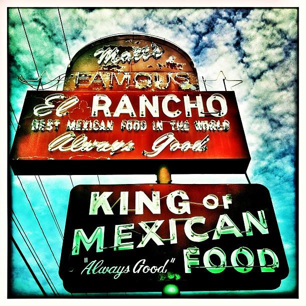Always good vintage neon sign for matt 39 s el rancho in for 13th floor elevators sign of the 3 eyed men