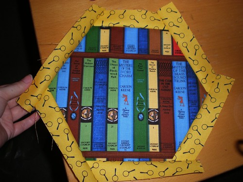 Nancy Drew patchwork Framed Hexagon