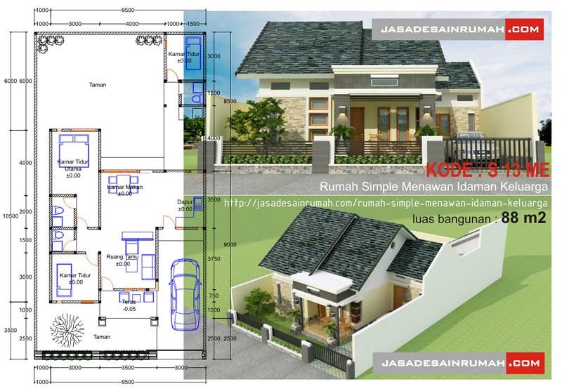 rumah simple menawan idaman keluarga jasa desain rumah