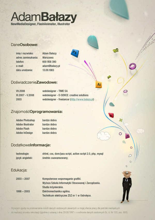 ejemplos de formatos de curriculum vitae creativos y