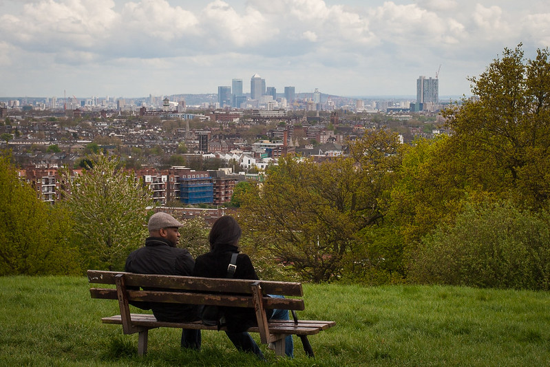 Hampstead Heath overlooking London