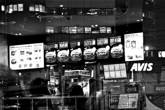 black and white burgers