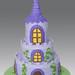 Rapunzel Castle Cake by Gellyscakes