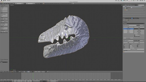 Dinosaur Head in Blender