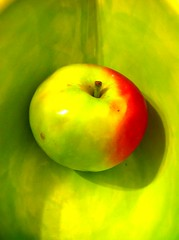 yellow, macro photography, green, produce, fruit, food, close-up, granny smith, apple,