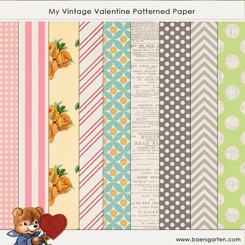 My Vintage Valentine Patterned paper