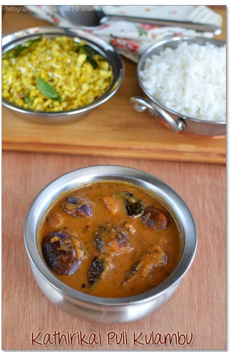 Kathirikai Puli Kulambu Recipe   Brinjal Recipes - Sharmis