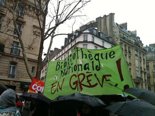 La BnF en grève le 31 janvier 2013