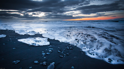 sunrise dawn iceland jökulsarlón