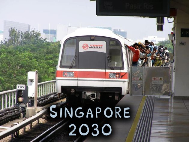 How to ride a train in Singapore 2030.