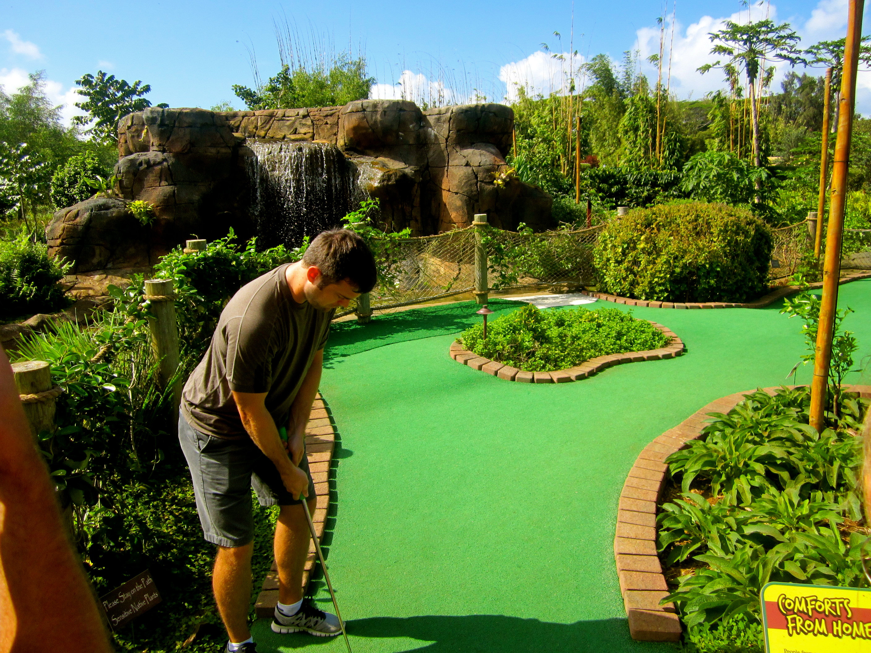 Putt away at Kauai Mini Golf & Botanical Gardens
