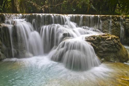 travel nature water canon asia southeastasia waterfalls laos luangprabang kuangsi kuangsiwaterfalls canon7d
