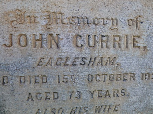 Currie Grave-Marker at Eaglesham, Scotland