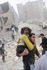 Syrien Aleppo Insari 3.02.2013 Luftangriff  Air Attack  IMG_7105