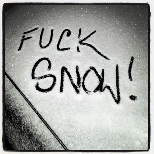 So over it! #snow #moresnowpictures #ice #frozen