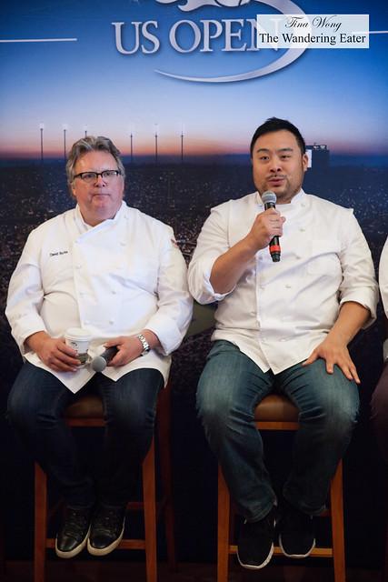 Chefs David Burke and David Chang