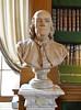 Benjamin Franklin - sculpted bust in the Bibliothèque Mazarine, Paris