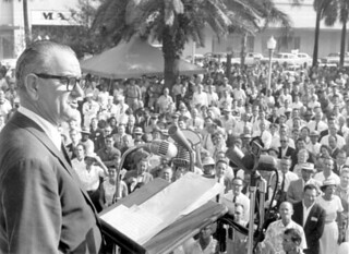 Lyndon B. Johnson speaking at Hemming Park: Jacksonville, Florida