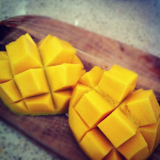 Fresh mango. I am in heaven!!