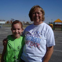 Mary Jo with volunteer