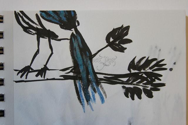 Brush Doodle - Bird Tail