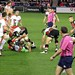 Small photo of Nick Easter picking up the loose ball