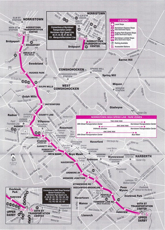 SEPTA Norristown High Speed 2012 Map