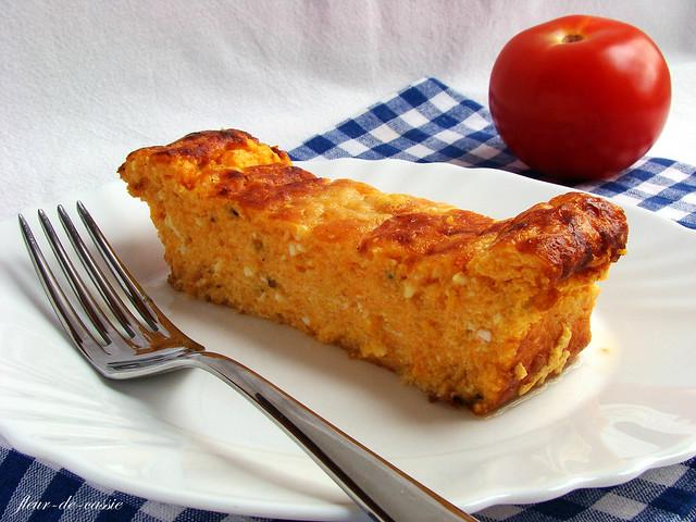 тыквенная запеканка с козьим сыром